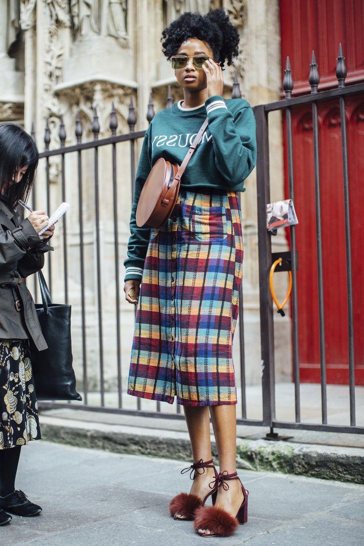 Attendees at Paris Fashion Week Spring 2018 - Street Fashion