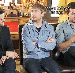 (Gif) Martin is jealous of Richard's impressive knowledge of Middle-earth