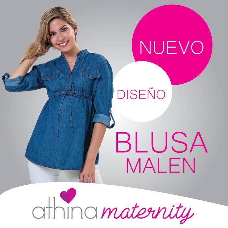 #blusa #denim malen #maternidad disponible en #athinamaternity #maternityclothes #ropamaterna #maternity #motherhood