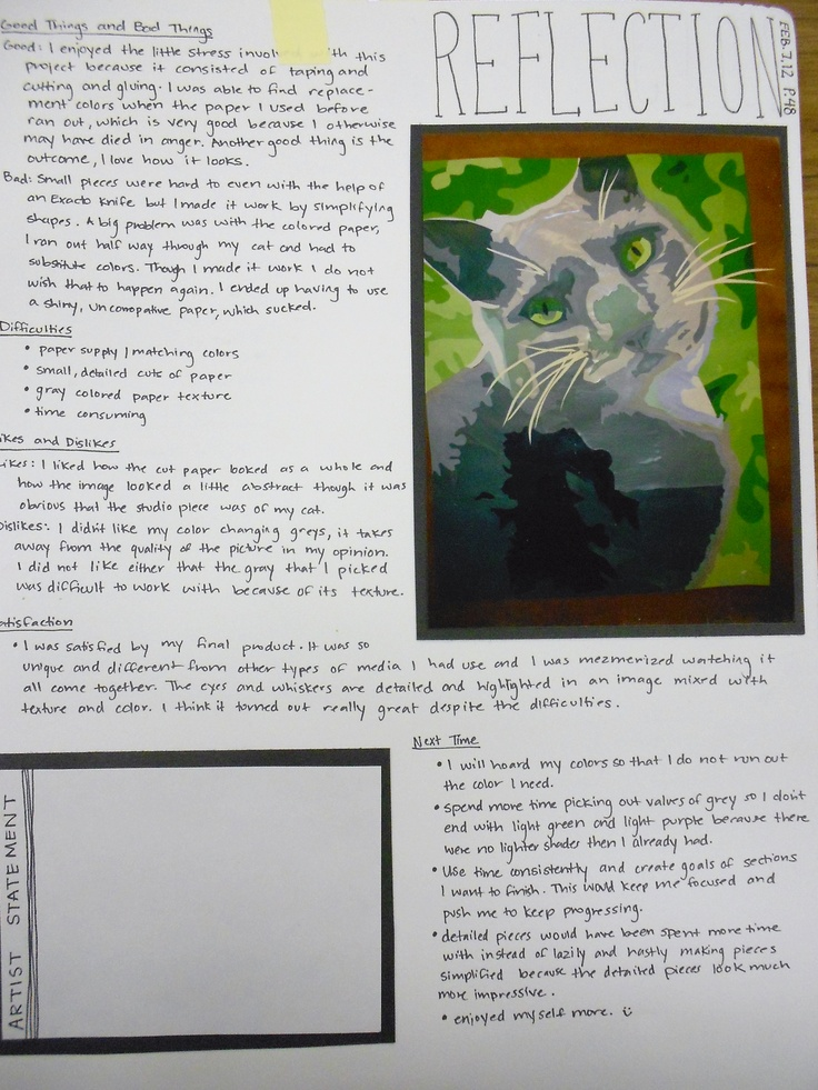 visual art reflection Definition and meaning of art, aesthetics, visual arts and crafts.