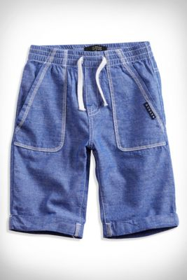 Little Boy Topstitched Shorts (2-7) | guess kids