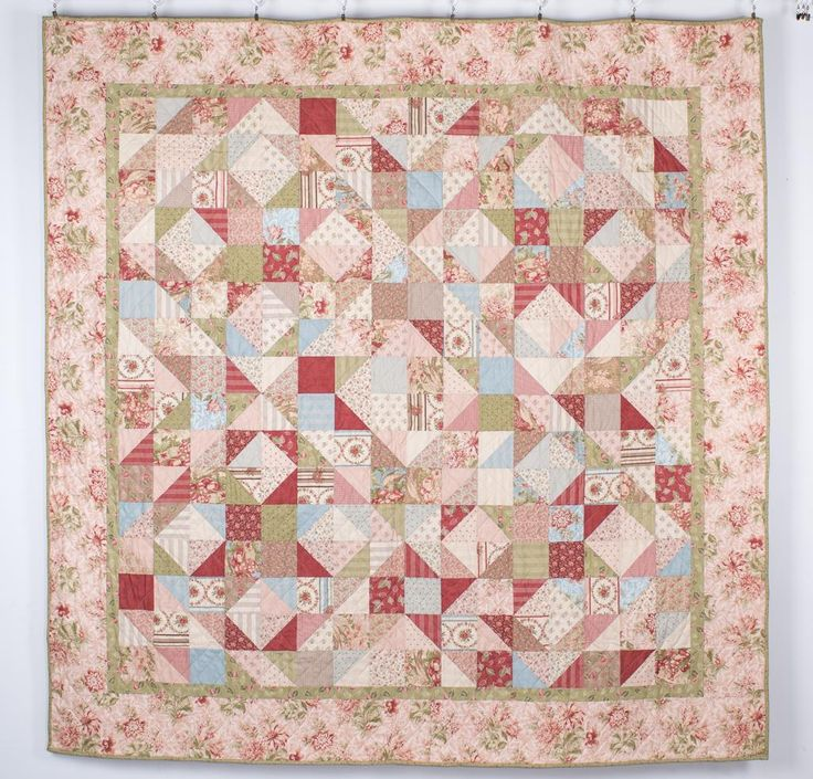 Moda Country Orchard Apple Blossoms Quilt - White