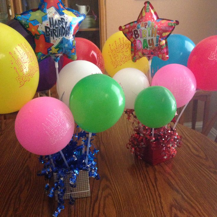 Dollar Tree birthday centerpieces Total cost 10
