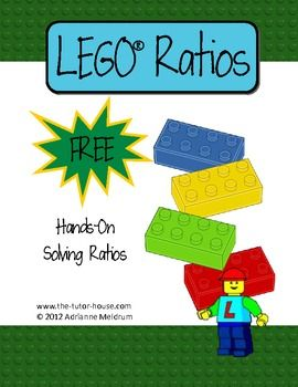 Free-LEGO Ratios makes a great introductory lesson for teaching ratios. Inside you'll find two complete worksheets focusing on finding ratio, a ratio table, and a math station.