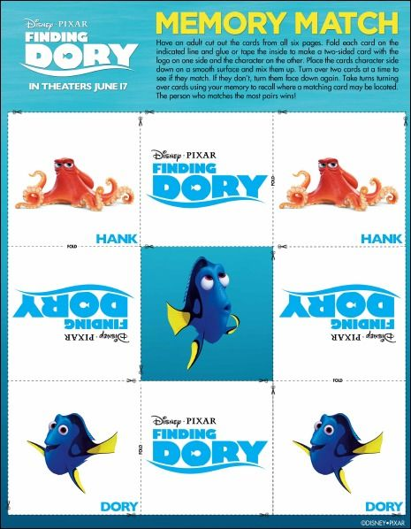 Finding Dory Memory Match