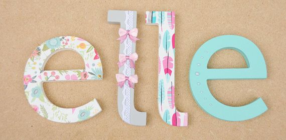 Top 25+ Best Decorated Wooden Letters Ideas On Pinterest