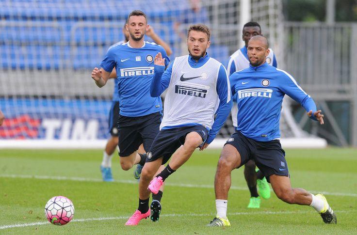 Adem Ljajic and Felipe Melo training.