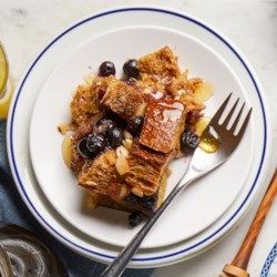 Blueberry-Almond Overnight French Toast - EatingWell.com
