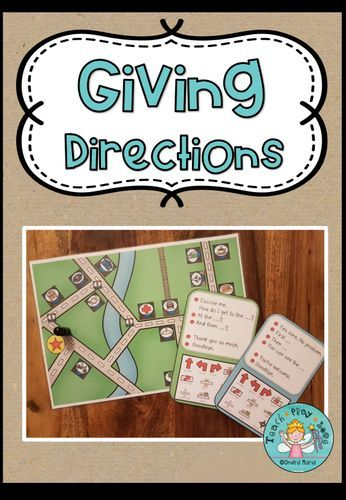 Giving Directions – Speaking Activity (Prompt Cards, Map, Vocabulary) – Englisch