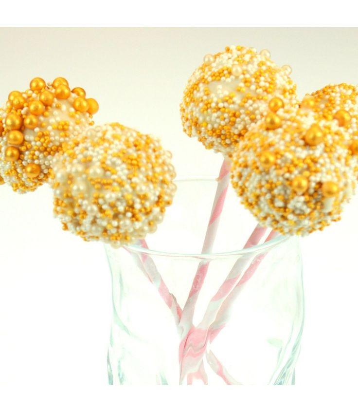 Champagner Cake Pops – Backdeko, die Du ganz leicht schaffst