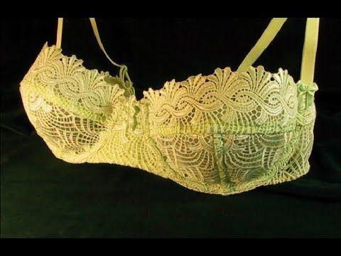 Как сшить кружевной бюстгальтер Анжелика/How to make a lace bra Anjelika - YouTube
