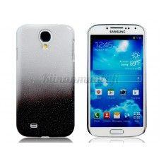 Muovinen vesipisarakuvioitu suojakotelo Samsung Galaxy S4, valkoinen-musta