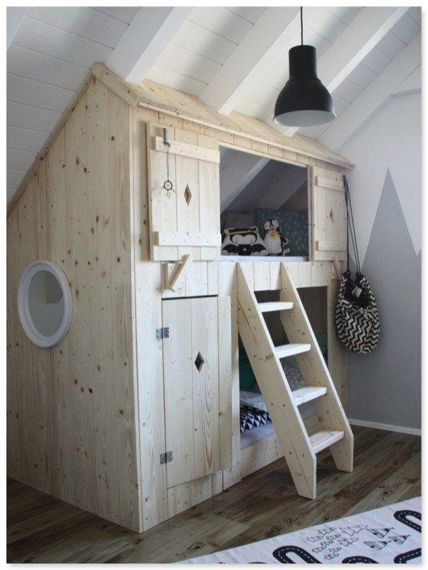 selbstgebautes_Hochbett  – Kinderzimmer