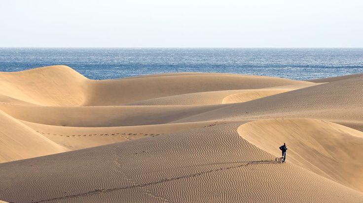 Playa del Ingles ja hiekkadyynit. Rauhallinen tunnelma valtaa mielen. #Kanariansaaret #CanaryIslands