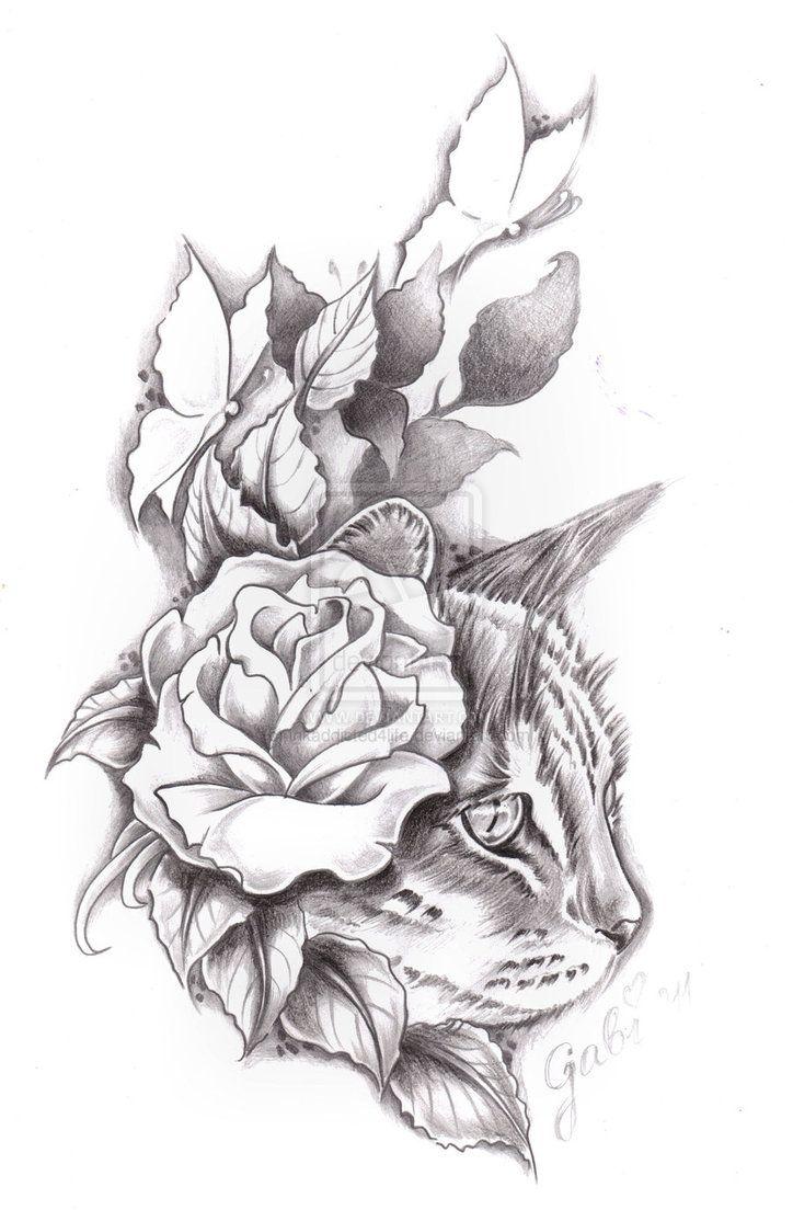 Hiding cat tattoo commision by ~inkaddicted4life on deviantART