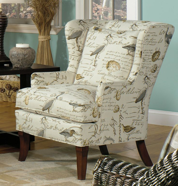 Living Room Chairs With Bird Upholstery | Bird Song Wing Chair | Living  Room Furniture |. North Carolina ... Part 35