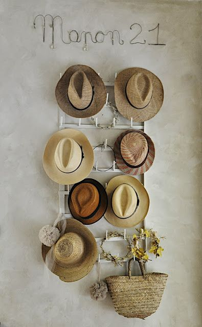 need one of these racks for my hat collection. What a great use for this bottle drying rack!