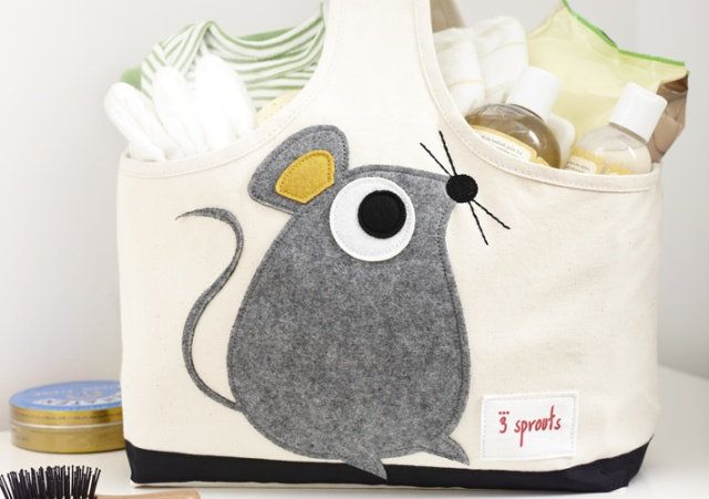Mouse Storage Caddy, would be adorable in the bathroom or nursery.