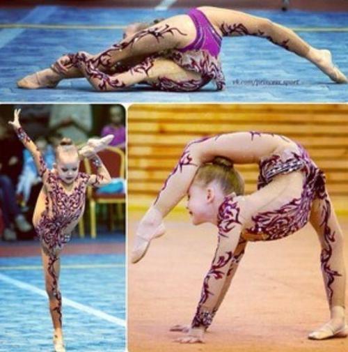 Epic Russian rhythmic gymnast (I think this is Ulyana Travkina)