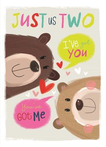 Just us two! Een leuke kaart voor jouw geliefde.  #Hallmark #HallmarkNL #wenskaart #liefde #allaboutgus