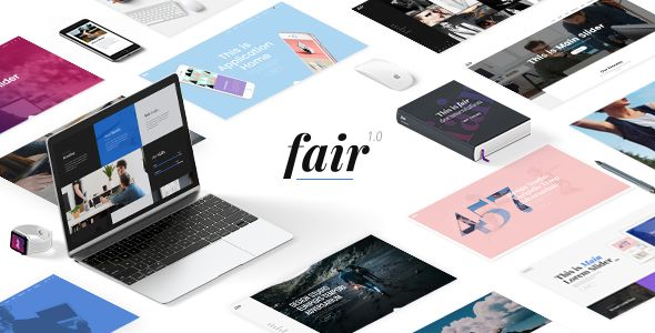 Fair - A Fresh Multipurpose Theme for Creative Businesses & Individuals Easy-to-Use Powerful Admin Interface One-click import of demo site 24 Homepage Examples Beautiful inner page templates Large collection of custom shortcodes Edge Slider with image and video support Zoom animations on Edge Slider images Parallax effect on Edge Slider Various slide animation types Infographic shortcodes Vertical Split Slider shortcode Shop Masonry shortcode......