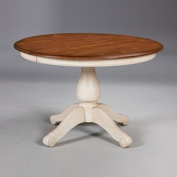 new country by ethan allen adam table traditional dining tables