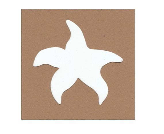 Starfish Stencil 5 for 2.00 40c each Coastal Sea by ScrapnCraftz