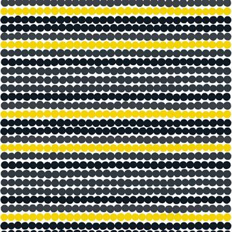 Räsymatto is a playful fabric with dots in different colots. The fabric is designed by Maija Louekari
