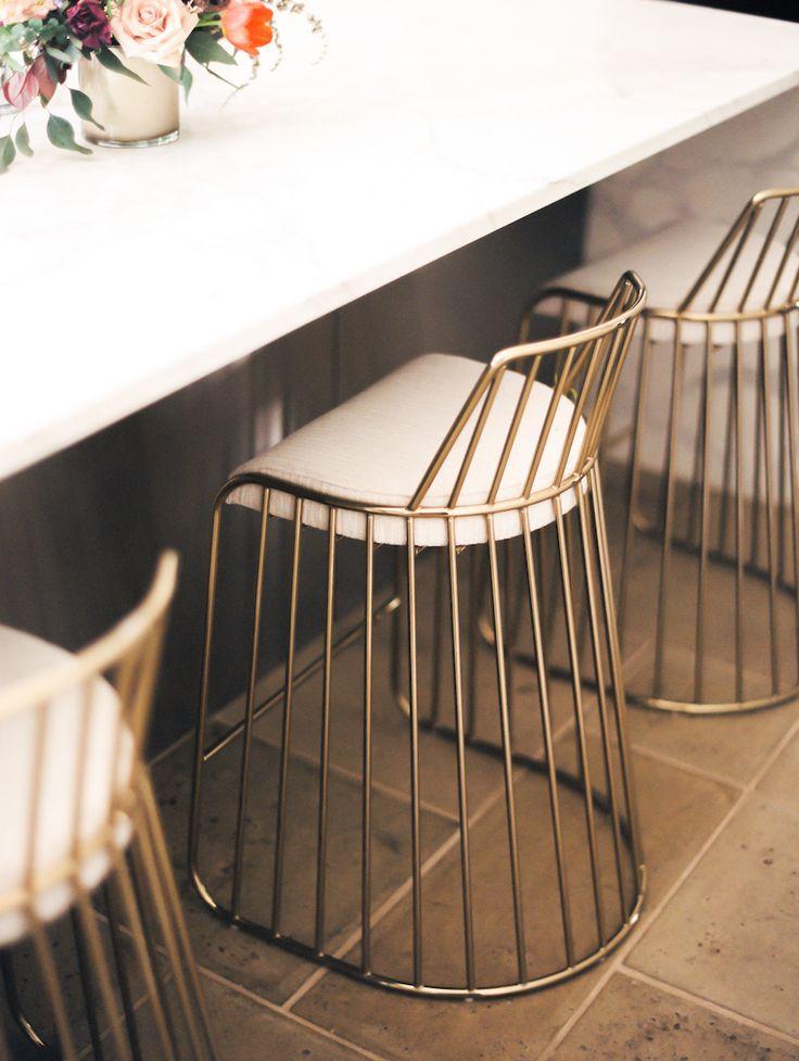 #brass bar #stools #home #interior