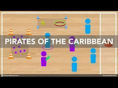 Pirates of the Caribbean - Physical Education Game (Chasing & Fleeing) - YouTube