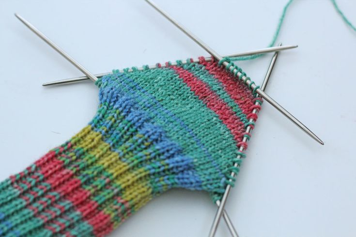Socks knit with the shadow wrap heel in CraSy style