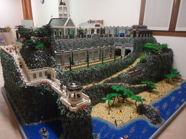 This #Lego diorama is bigger than my bedroom
