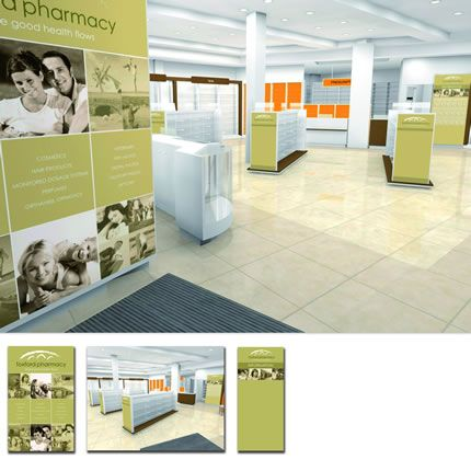 Project: Large format printing Client: Foxford Pharmacy, Co. Mayo, Ireland.