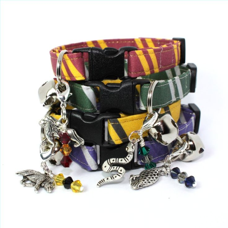 Harry Potter cat collars!!! My cats all belong in Slitherin!