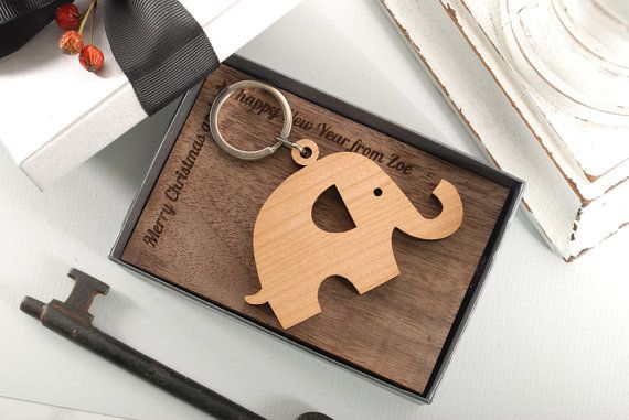 ELEPHANT LUCKY  ready to give gift box personalized by MoodForWood