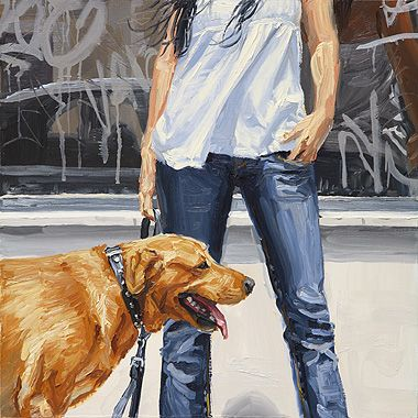 Michele Del Campo - Lady with dog
