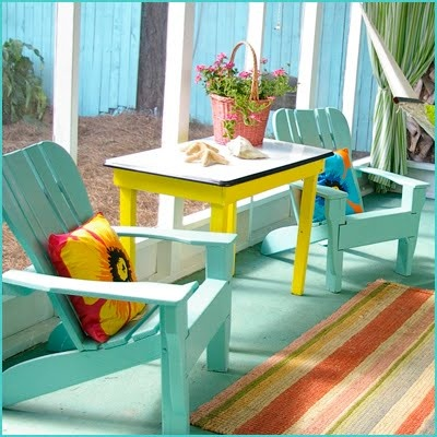 Life-style Ideas for Key West porch living ... it's all in the color!