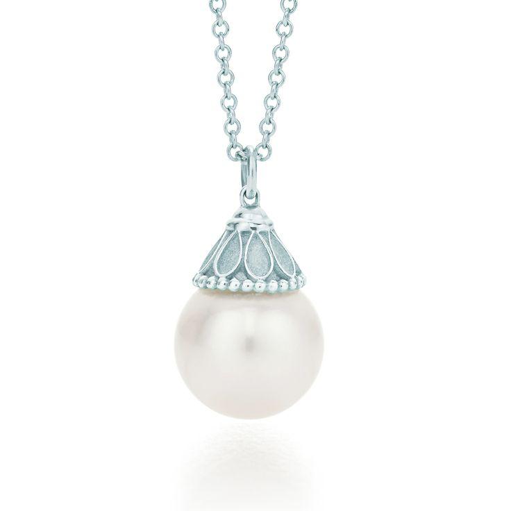 Tiffany & Co. Ziegfeld Collection pearl pendant in sterling silver. #TiffanyPinterest