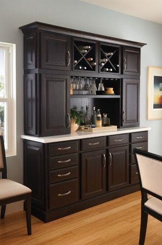 Nice hutch style with wet bar
