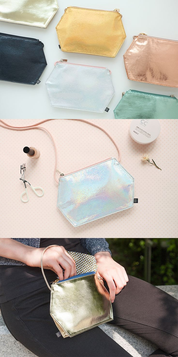 Gorgeous fun, metallic vibes, hexagon funk, shoulder bag life, daily purse, beauty & beyond: Not just your ordinary bag.