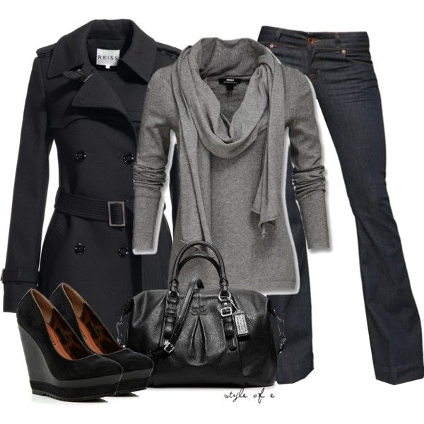 Black and Gray - Polyvore