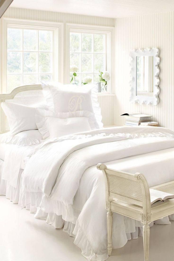 best white comforter images on pinterest  bedrooms white  -  anythingbutboring neutral bedrooms