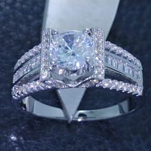 Victoria Wieck Eiffel Tower Style Jewelry Topaz simulated diamond 925 Sterling silver Wedding band Ring Sz 5-10 Free shipping