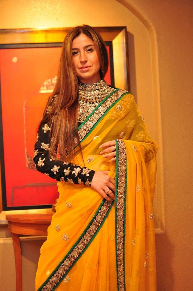 loving the long sleeves on sari's love Sabyasachi saree