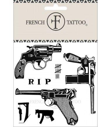 Gun 30's - Tatouage éphémère