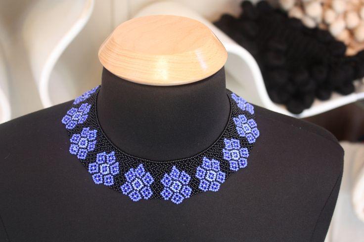 Saraguro Hand Beaded Necklace от LaBellezaSaraguro на Etsy