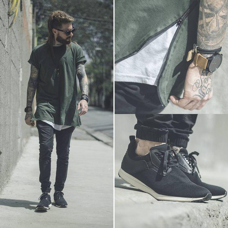 Camiseta Oversized Masculina, Sobreposição, Calça Jogger, Sneaker Masculino, Relógio MVMT, MVMT watches, Calça Skinny, Camiseta Verde Militar, Verde Militar,