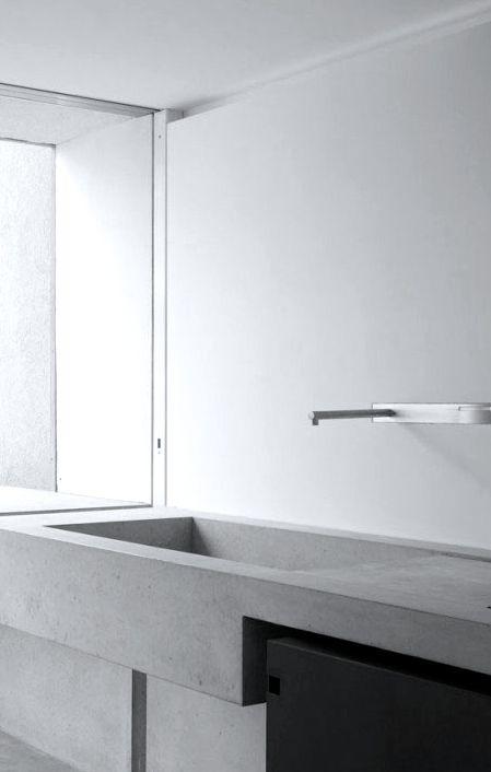 #bathroom design #minimalism #white - Studio Soius   Vorstadt 14   Zug, Switzerland   tap by Boffi