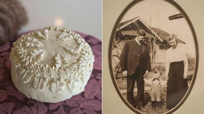 Man Finds Grandparents' 100-Year-Old Wedding Cake Inside a Hatbox in Garage+(http://www.ny1.com/nyc/all-boroughs/weather/2016/01/23/blizzard-could-dump-up-to-a-foot-and-a-half-of-snow-on-the-city.html)