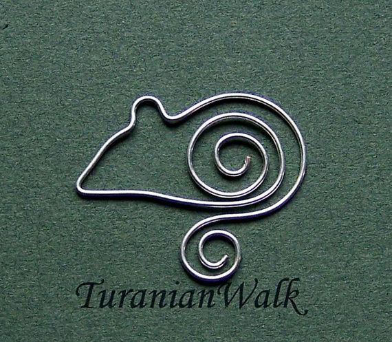 Little mouse bookmark by TuranianWalk on Etsy